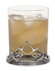 Equestrian Bit Double Old Fashion Glass (set of 4)