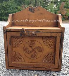Cottage Wall Box w/tin door Designed by Red Fox Primitives www.redfoxprimitives.com
