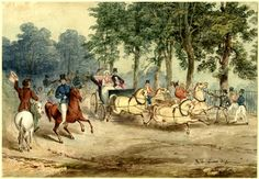 Edward Oxford's assassination attempt on Queen Victoria, June 1840. Watercolour by G.H. Miles.