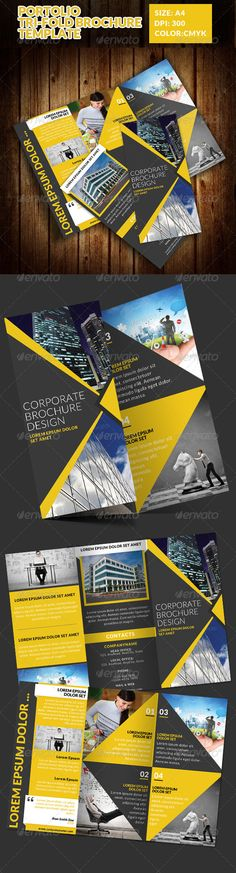 Portolio Corporate TriFold Brochure Template — Photoshop PSD #real estate #business • Available here → https://graphicriver.net/item/portolio-corporate-trifold-brochure-template/7514263?ref=pxcr