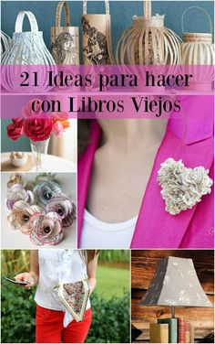 21 ideas que podemos hacer con libros viejos - ManualidadesGratis.es