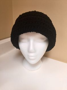A personal favorite from my Etsy shop https://www.etsy.com/listing/481044755/handmade-black-crocheted-hat