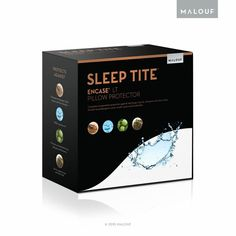 Your favorite pillow will still feel like your favorite pillow when you've got the Sleep Tite Encase LT Pillow Protectors - Set of 2 . Memory Foam Mattress Topper, Pillow Top Mattress, Pillow Protectors, Bed Bugs, Dust Mites, Mattress Protector, Pillow Covers, Sleep, Pillows