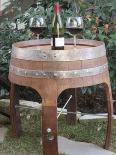 wine barrel repurposed