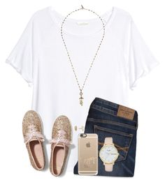 """"""""""" by twaayy ❤ liked on Polyvore featuring H&M, Kendra Scott, Abercrombie & Fitch, Keds, Isabel Marant, Casetify and Kate Spade"""