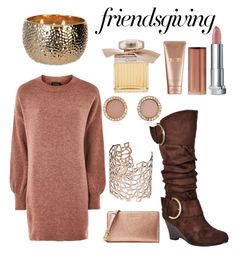 """""""thanksgiving"""" by hoslersc ❤ liked on Polyvore featuring beauty, Topshop, Michael Kors, Journee Collection, Co.Ro, Chloé, Maybelline and La Mer"""