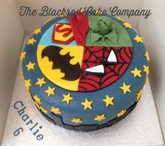 Avengers Birthday Cake ~ The Hulk ~ Batman ~ Spiderman ~ Superman
