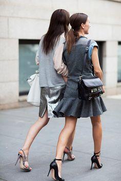 Vanessa and Samantha Traina by The Sartorialist