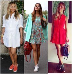 Look Inspiração: Vestido com Tênis | Ângela Bastos