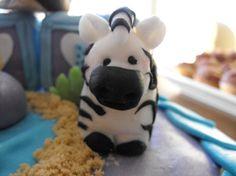 baby fondant zebra