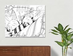 Discover «Red Panda», Numbered Edition Aluminum Print by Elaine Jason - From $59 - Curioos