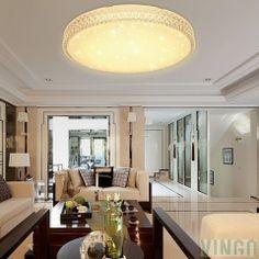 60W LED Kristall Deckenleuchte Sternenhimmel Warmweiß Starlight Eckig  Deckenbeleuchtung Wohnzimmer Deckenlampe Korridor Schlafzimmer Schönes  6000K