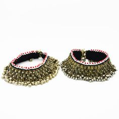 !!!!!!!!!!!!!!!!!!!!!!!!!!!!!! this one!!!!!!!!!!!!!!!! Beautiful tribal Kuchi anklets with antiqued metal and beading. Handmade, heavy pieces that jingle as you move, theyre all sorts of amazing!!!   Fits around approx 23cm