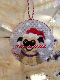 Kirk & Bradley Needlepoint Ornament Stitched by a talented needlepoint.com customer!
