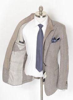 This Corneliani ID brown birdseye cotton silk blazer is the perfect piece for autumn months.  |  Get your own! http://www.frieschskys.com/blazers  |  #frieschskys #mensfashion #fashion #mensstyle #style #moda #menswear #dapper #stylish #MadeInItaly #Italy #couture #highfashion #designer #shopping