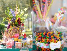 A whimsical candy buffet...