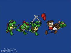 Tortugas ninja y Mario