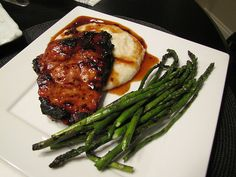 Grilled Maple Chipotle Pork Chops on Smoked Gouda Grits