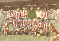 Póster de la Cerveza CARTA BLANCA de Chivas rayadas del Club deportivo Guadalajara, el Campionisimo con Árpád Fekete Priska, como DT. 1959