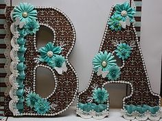 altered wooden letters - wow