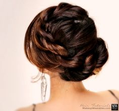 How to do a Twist Braid Bun Updo Hairstyle