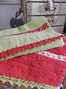 Crochet Towel Edging
