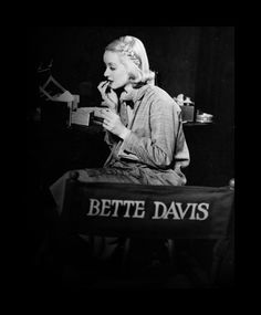 Bette Davis @Terri Miller #TCM #HOLLYWOOD #CELEBRITIES #CLASSICMOVIES