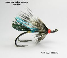 Blue Rat tied on Partridge Patriot Double