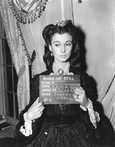 Makeup still for the incomparable Vivien Leigh as Scarlett O'Hara. She received the Oscar as Best Actress of 1939 for this part.