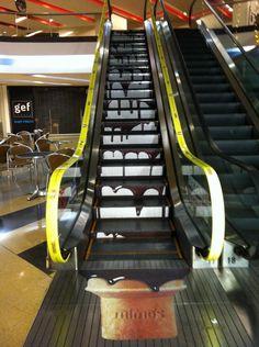 28 ejemplos creativos de publicidad en escaleras | Tiempo de Publicidad | Blog de Publicidad y Creatividad