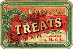 Items similar to Vintage Christmas Candy Label Tag Vintage Old St. Nick Brand Tag Elven Recipe Treats Digital Christmas Printable Scrapbook Image on Etsy