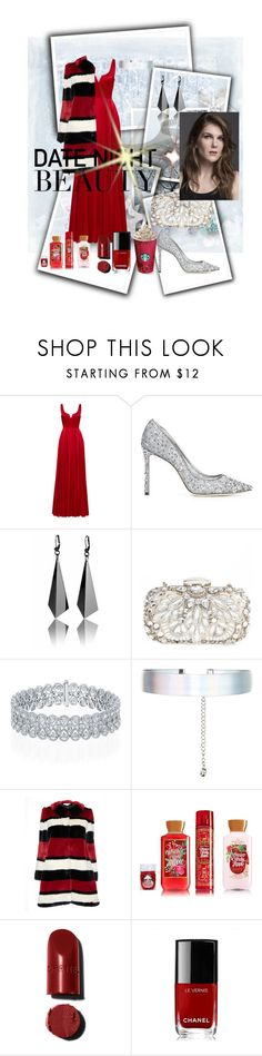 """Untitled #2465"" by princhelle-mack ❤ liked on Polyvore featuring Halston Heritage, Jimmy Choo, Natasha Couture, Accessorize, Alice + Olivia and Chanel"