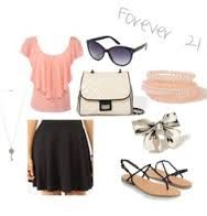 forever 21 pink and black outfit