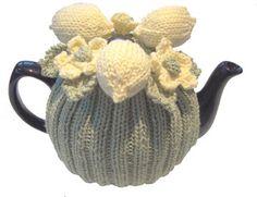 Lemon Tea Cosy. Hand Knitting Pattern.