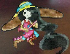 Marceline from Adventure Time perler bead sprite