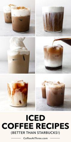 Ninja Coffee Bar Recipes, Coffee Drink Recipes, Cold Brew Coffee Recipe, Iced Tea Recipes, Iced Coffee At Home, Iced Coffee Drinks, Espresso Drinks, Healthy Starbucks, Starbucks Recipes