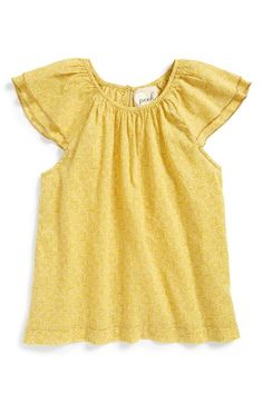 Peek 'Saylor' Flutter Sleeve Top (Toddler Girls, Little Girls & Big Girls) available at #Nordstrom