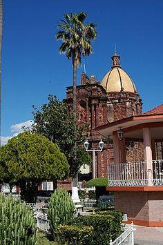Plaza de Tlazazalca, Michoacan Mexico