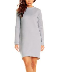 Another great find on #zulily! Gray Quilted Hi-Low Dress by Karen #zulilyfinds