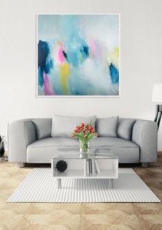 Ursprüngliche abstrakte Malerei moderne abstrakte bunte
