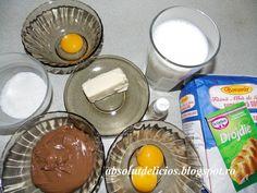 Absolut Delicios: COZONAC FLOARE CU NUTELLA Nutella, Glass Of Milk, Pudding, Desserts, Food, Tailgate Desserts, Deserts, Custard Pudding, Essen