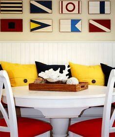 These signal flags make cute wall decor!