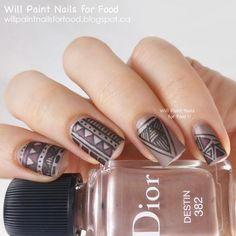 31 Day Challenge: Day Sixteen, Tribal: Dior Matte Tribal Nail Art