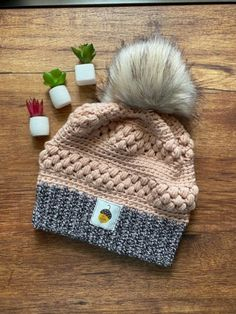 Excited to share this item from my #etsy shop: chic fall beanie, girly fall beanie, women's fall, marbled beanie, two toned, pompom, autumn boho, fall accessories, girl mama, mommy and me #chicfallbeanie #girlyfallbeanie #womensfall #marbledbeanie #twotoned #pompom #autumnboho #fallaccessories #girlmama