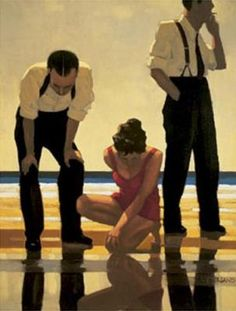 Jack Vettriano - Narcissistic Bathers  Like this image? You can find it in Verttriano's coffee table book Lovers and Other Strangers, packed full of his paintings