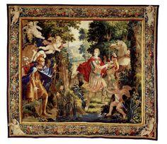 Si vous voulez de la #couleur, la #tapisserie Clorinde et Tancrède (vers 1650) semble toute indiquée! #BattleTapestry