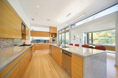 floor color good for kitchen cabinets  - Stefani House - contemporary - kitchen - dallas - Domiteaux + Baggett Architects, PLLC