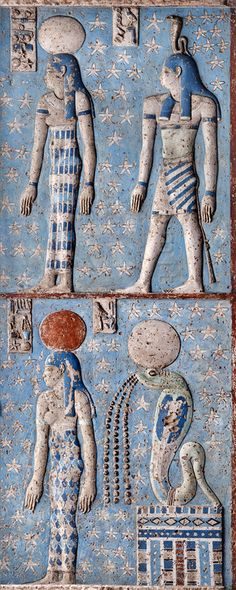Egypt: Hypostyle hall of the Hathor Temple at Dendera