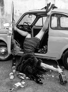 Pearl wasn't at all lady-like when it came to getting out of a car. She wasn't at all sober either.