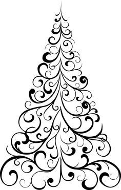 how to draw a Christmas tree, stencil